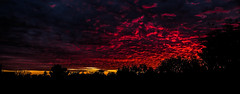 burning sky (pawoo44) Tags: uk blue sunset red sky london mill dark view terrace hill burningsky