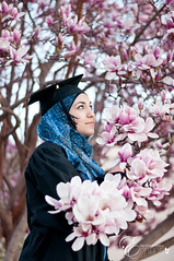 Graduation (photography-by-emma) Tags: blue woman beautiful female wonderful diploma natural islam blossoms graduation hijab teenager graduate senioryear capandgown highschoolgrad 2013 femalegraduate muslimgraduate hijabigraduate casualgradportraits casualgrad