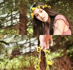 55/365 (abigailannexoxo) Tags: flowers color girl photography diptych artistic details wreath forgotten