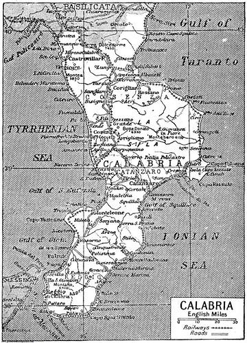 1922 - Mappa della Calabria