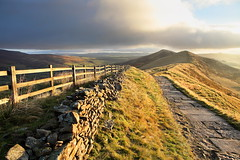 Golden Oldie (matrobinsonphoto) Tags: morning autumn light sunset sky sun sunlight mountain beautiful wall clouds sunrise fence landscape hope dawn golden countryside early back cross path district derbyshire hill peak ridge mat valley tor lose mam robinson edale castleton hollins matrobinsonphoto