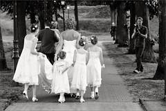 Just married. Wahaar heen leiheidt de weg.... (Bram Meijer) Tags: blackwhite zwartwit marriage huwelijk trouwerij fotograaf bruispaar