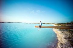 Sur le Lac de Sel... (Arthur Janin.) Tags: leica blue portrait lake man color guy lens arthur angle natural turquoise voigtlander wide indigo lac 12mm f56 paysage vignetting ultra maxime azur m9 janin chantebien