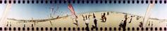 [ ☄ ] ([noone]) Tags: kite valencia 35mm lomo xpro crossprocessed procesocruzado 360 playa spinner cometa aquilone processoinverso fixedshadows