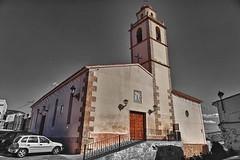 Iglesia de Cofentes (Angeles Baon) Tags: yecla cofrentes comunidadvalenciana desaturado lugardeculto josecasiellesfotografo iglesiadecofrentes