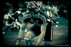 Ceres Cyclist (FotoFling Scotland) Tags: scotland cyclist fife scottish event biker ceres 2013 cereshighlandgames