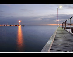 St Kilda Harbour 04 (.Paul Jones.) Tags: sunset sea sky sun lighthouse water clouds port coast pier sundown harbour australia victoria vic stkilda