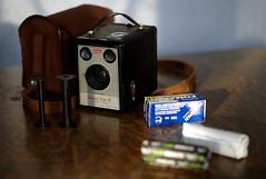 620 Film and the Solutions (Trojan_Llama) Tags: film spools mediumformat kodak roll spindles solution brownies boxcamera 620 620roll