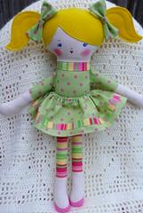 Lemon Drop - Cloth Doll (creatingtreasures) Tags: lemon doll fabric cloth rag ragdoll
