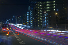 Vehicle light trails (DigiPub) Tags: explore onsale kawasaki gettyimages lighttrail  181549922