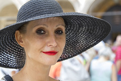 Stranger #086 (Zo0Bear) Tags: street woman white hat lady portraits photography croatia stranger lipstick elegant dubrovnik