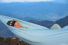 whether (.:: Maya ::.) Tags: blue woman mountains nature night bulgaria hammock родопи rhodope хамак mayaeye