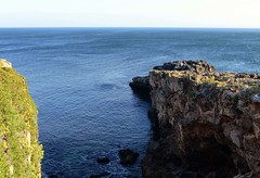 Bocca do  Inferno (rschnaible) Tags: ocean blue sea cliff portugal water mouth landscape do day devils sunny cliffs atlantic clear inferno cascais bocca rugged the vision:beach=057 vision:mountain=079