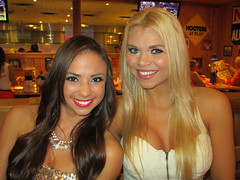 Kim & Brittany (BuccaneerBoy) Tags: autumn party hot sexy fall beautiful fun restaurant women october calendar florida gorgeous blondes hooters stunning lovely brunettes blonds clearwater 30thanniversary calendargirl hootersgirls originalhooters hootersofinternet gulftobay 2014hooterscalendargirls