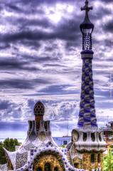 Parc Güell (jacobo_gonzalez_castrodeza) Tags: barcelona city detalle detail colors contrast 50mm daylight nikon cloudy bcn colores gaudi contraste catalunya jacobo clounds autofocus d40 ringexcellence blinkagain rememberthatmomentlevel1 magicmomentsinyourlife