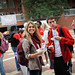 A red shirt meant a free lunch for students at 'Wear Red, Get Fed,' a Homecoming week event on the Brickyard.