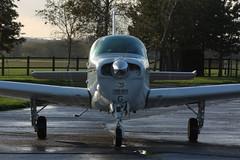 Front Close up of Beechcraft Beech F33C Bonanza  G-VICM (Old Buck Shots) Tags: beechcraft dm beech bonanza egsv f33c gvicm beechcraftbeechf33cbonanzagvicm