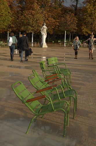Seats in the Tuileries garden - Paris
