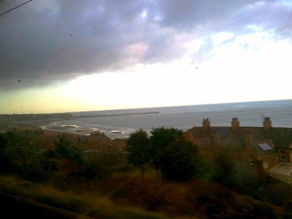 Spittal Beach from East Coast train