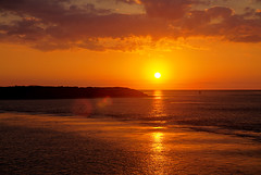 Ferry Sunset - leaving Ocracoke (MurrayH77) Tags: ferry island nc hatteras hdr obx ocracoke photomatix 3exp 450d