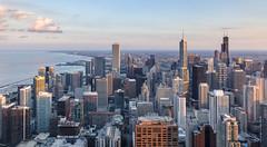 The Windy City (PhiiiiiiiL) Tags: chicago skyline thewindycity sunset buildings skyscraper nikon d800e usa united states john hancock observatory sonneuntergang lake michigan sky clouds wolken himmel panorama city stadt ausblick wolkenkratzer willis tower