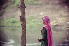 (Why?) She Kept Looking Away... (Sheikh Shahriar Ahmed) Tags: street film analog candid streetlife fujifilm dhaka bangladesh banasree nikonf6 fujicolorc200 dhakadivision dxonfx 55300mm dxonfilm epsonv330 sheikhshahriarahmed