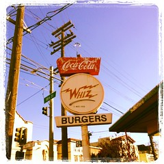 whiz burgers instagram (Lynn Friedman) Tags: instagramapp square squareformat iphoneography uploaded:by=instagram lordkelvin foursquare:venue=4a12413df964a52083771fe3 retro hamburger burgers whiz cocacola sign vintage mission 18th street southvanness drivein fastfood sanfrancisco california lynnfriedman lynnrfriedman instagram 94110 missiondistrict