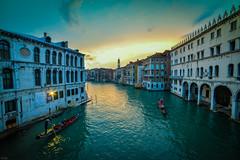Venice-1 (theboseographer) Tags: bridge blue venice sunset sky italy water evening flickr ponte gondola vecchio vechio venito abhimanyubose boseography