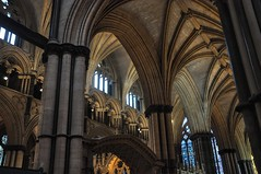 DSC_0195 - 'Vaulted'... (Lincoln Cathedral) (SWJuk) Tags: uk winter england architecture nikon arch cathedral gothic ceiling lincoln vaulted ribbed lincolncathedral d90 2013 nikond90 swjuk mygearandme dec2013