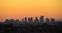 Phoenix Downtown Skyline (TQTran) Tags: sunset arizona sky phoenix skyline downtown az tempe phoenixdowntown