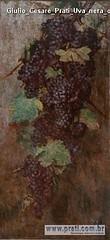 Giulio Cesare Prati Uva nera olio su tela 125x60cm 1902