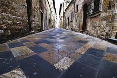 Vecchia strada (luporosso) Tags: street colors strada tuscany older toscana colori vecchio pavimento selciato