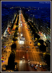 Night is still young at Champs-lyses (Renal Bhalakia) Tags: street paris france night europe nightlights nightshot nightlife nightview avenue placedelaconcorde highiso champslyses parisbynight avenuedeschampslyses iso1000 axehistorique historicalaxis champsdeelysees nikond600 arcdetriomphedeltoile renalbhalakia nikon28300mmvr