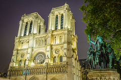 Notre Dame and Charlemagne (Steven Johnson Photography) Tags: paris france notredame