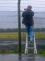 The Wife is Watching!!! (gerrykane214) Tags: camera me rain fence and ladder wiind