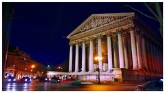 Paris by night: La Madeleine church