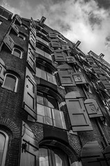 (Tom Greenep) Tags: windows sky blackandwhite bw building amsterdam architecture clouds shutters