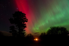 Northern Lights (Brian D 1960) Tags: uk trees light sky sun storm tree weather night outdoors lights scotland solar nikon exposure heaven aberdeenshire wind outdoor space north scene astrophotography planets astronomy nightsky northern distance d700