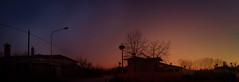 IMG_4382+83+54 sunset with stork nests (pinktigger) Tags: sunset italy panorama nature italia stork friuli nests fagagna oasideiquadris feagne