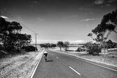 Not Beach Road (lukemarkof) Tags: morning light shadow sky woman sunlight holiday black art classic bike bicycle clouds trek dark fun happy exposure day play view outdoor sale style australia funky special exotic journey cycle heat carbon depth interest madone challenging rapha seaspray duraace 2014 iphoneography