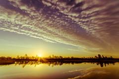 Lake Sunrise (Lee532) Tags: sky cloud sun lake colour reflection silhouette sunrise landscape dawn nikon sigma 1020mm d5100
