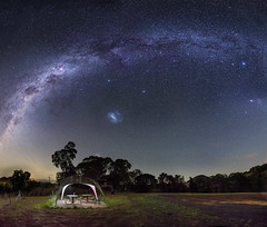 Picnic Under the Stars (Matthew Post) Tags: canon picnic flash australia astrophotography queensland tamron milkyway 6d ptgui gympie picnicarea 2875mm offcameraflash dagun maryvalley yongnuo468 yongnuowirelesstrigger