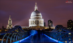 St Paul's Cathedral (_Hadock_) Tags: desktop city inglaterra bridge wallpaper england green london nature st night de long exposure cathedral creative commons pauls screen full londres fondo s4 pantalla fullscreen s5 iphone saver 5s ipad walpaper comons