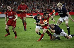 Wales attack Scotland (Sum_of_Marc) Tags: 6 game sports sport wales scotland rugby stadium union cardiff millenium six nations rbs milleniumstadium 6nations 2014 rugbyunion irb