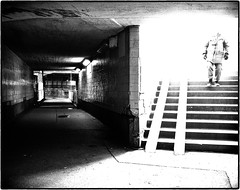 Stairway from heaven (stejo) Tags: contrast stockholm tunnel stairway streetphoto slussen