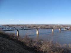 US Route 54 - Missouri (Dougtone) Tags: road bridge sign highway route missouri mississippiriver shield us54