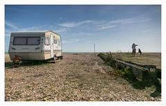 Out of Office (Wil Wardle) Tags: england beach canon photography coast britain shingle coastal british caravan southcoast eastsussex f28 supreme pevensey mananddog adobelightroom mobileliving 5dmk3 wilwardle ebphoto canonef2470mmmk2 caravansandcampervans