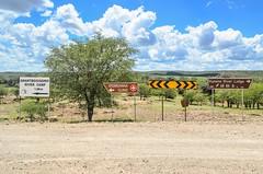 20140329-DSC_1388 (jbdodane) Tags: africa road signs bicycle cycling dirtroad namibia velo vlo gravel cyclotourisme kaokoland cycletouring kuneneregion day511 swartbooisdrift freewheelycom