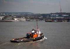 tugboat (n.a.) Tags: london thames river boat east tugboat