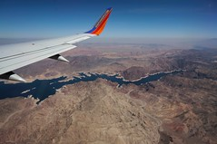 Southwest Airlines ad number 2 (rovingmagpie) Tags: arizona southwest nevada lakemead southwestairlines windowseat springbreak2014